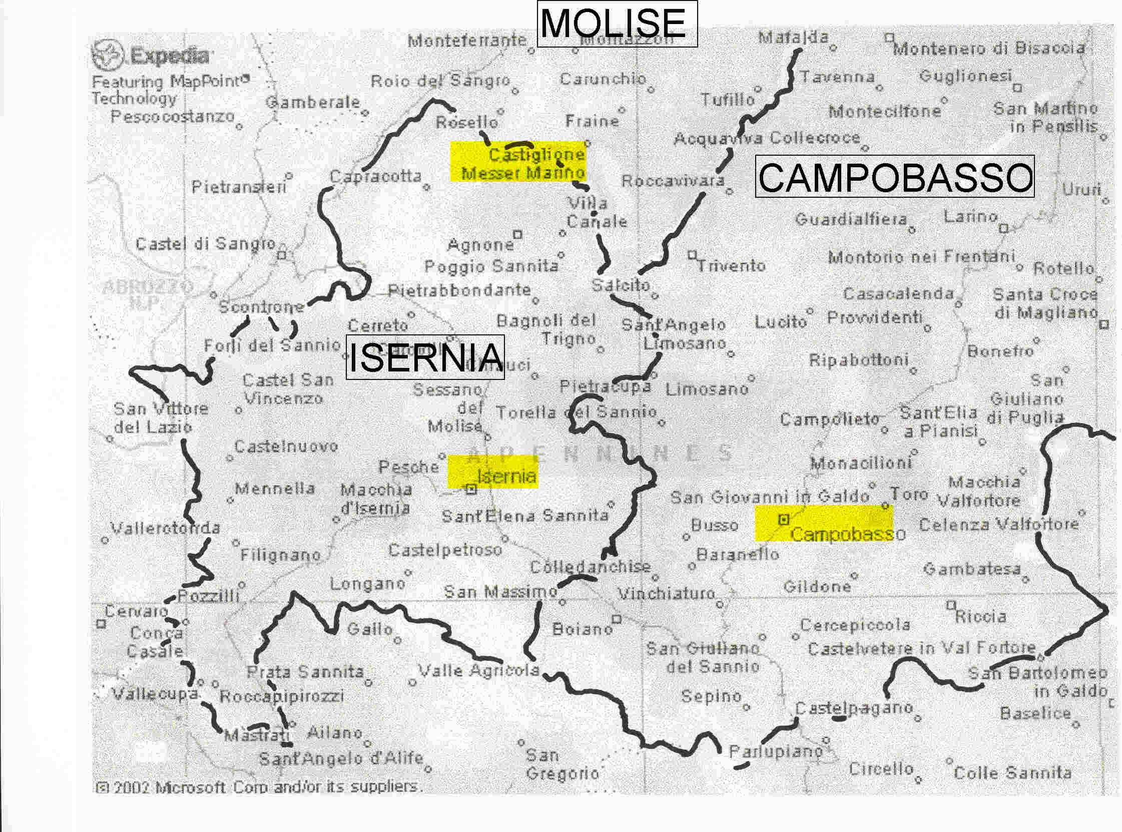 Isernia Italy Map.Short History Of The James Family The Italian Connection